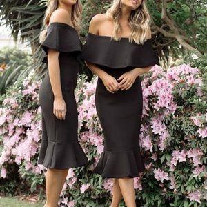 Esther & Co Strapless Black Dress